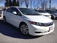 2012 Honda Civic EX ONE OWNER CLEAN CARPROOF SUNROOF ALLOY RIMS