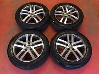 """16"""" GENUINE VW JETTA GOLF MK5 MK6 ATLANTA BIOLINE ALLOY WHEELS TYRES CADDY 5x112"""