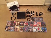 Playstation 3 – Slim 120GB and 21 Games and Accessories - Reduced