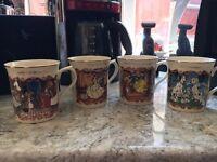 4 Lenox Disney mugs