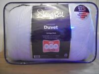 For sale brand New King size Quilt 13.5 luxury duvet by Sleep well Heritage