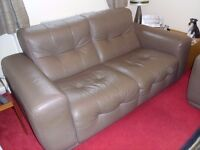 2 SEATER SOFA & ARMCHAIR, LEATHER, ITALIAN, GREAT CONDITION, MOVING, MUST GO