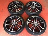 "18"" GENUINE VW GOLF MK7 GTD ALLOY WHEELS TYRES 5x112 CADDY JETTA PASSAT NOGORO"
