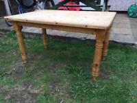 Wooden table farmhouse style