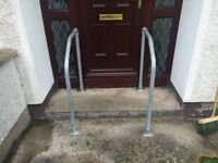 Galvanised hand rails as new condition.