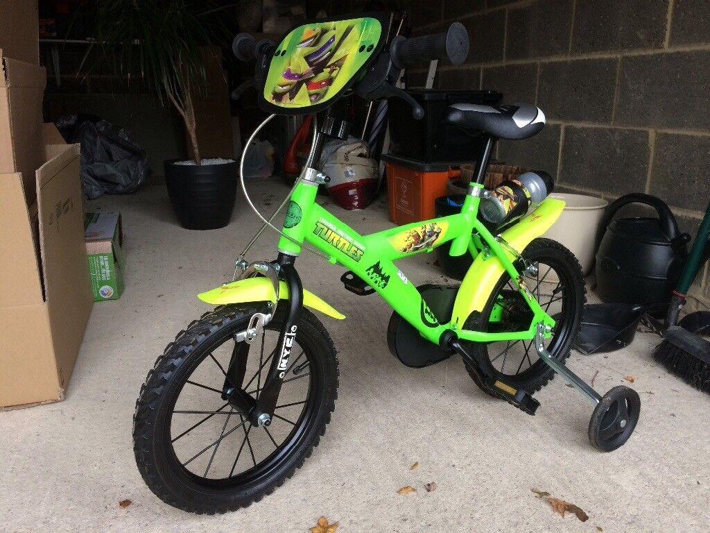 almost brand new child s teenage mutant ninja turtle bicycle for
