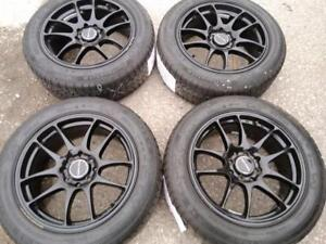 "16"" MNI COOPER WINTER PACKAGE,4X100 ALUMINUM RIMS WITH 195/55R16 CONTINENTAL CONTI WINTER CONTACT RUN FLAT USED FOR SALE"