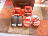lonsdale boxing x2 head gear and Glove and Pad