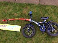 Trail Gator Kids bike trailer + bike