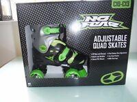 No Fear childrens adjustable roller skates