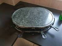 Oval stone raclette grill 1200w
