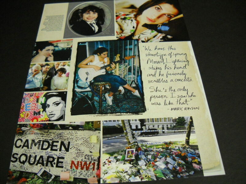 AMY WINEHOUSE collage style 2015 music biz PROMO DISPLAY AD mint condition