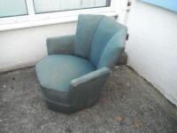 "Vintage ""Airborne"" 1930's Art Deco Chair. -*Vintage/Shabby Chic Furniture*."
