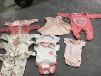 Baby girl clothing tiny baby size