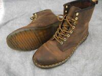 Dr Martens DM'S Aztec Crazy Horse Brown 8 Eyelet Boots