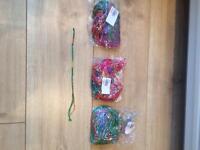 New (150 bracelets) various coloured cotton friendship bracelets job lot £25