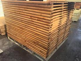 🌎New Pressure Treated Brown Feather Edge Straight Top Fence Panels