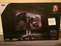 """AOC AGON 24"""" AG241QG - 165HZ G-Sync 2560X1440 1440P 1MS PC Gaming Monitor"""