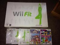 Wii Fit Balance Board and various games