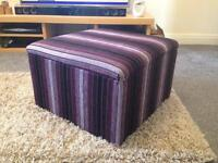 Storage footstool (purple & black)