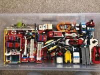 Lego city police, fire and coast guard