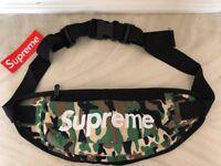 New Supreme Green Camo Waist Bag