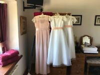 Mother of the Bride Dress, Hat, Coordinating Bridesmaid dress
