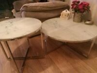 Next home..pair of contemporary tables