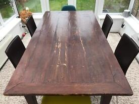 Large Vintage Shabby Chic Indonesian-style dining table