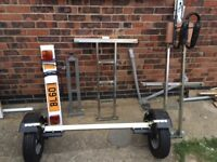 Dave Cooper Collapsible Single M/Bike Trailer. As New. 150kg. Used Once