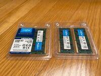 Crucial CT16G4SFD8266 16 GB (DDR4, 2666 MT/s, PC4-21300, Dual Rank x8, SODIMM, 260-Pin)