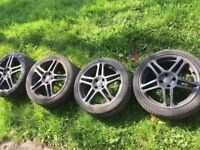 17 inch honda civic wheels tyres all excellent tread