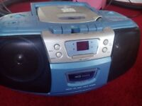 Portable CD player and radio (Alba) - works well (mains powered)