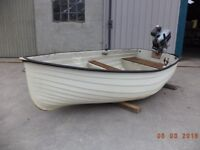 8' Lake Fishing Boat with 2.5Hp Outboard Motor