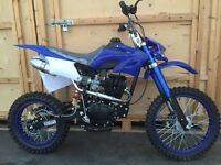 150cc DMX Dirt bike. New. Electric/Kick Start Sports Exhaust. This is a big bike adult size