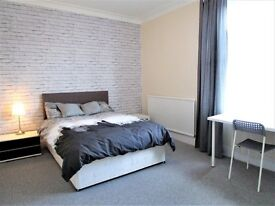 BRAND NEW REFURBISHED 4 BEDROOM HOUSE SHARE. 2 Large rooms left. RENT INCLUDES COUNCIL TAX