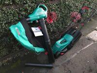 Bosch Rotak Lawnmower and Bosch Leaf Vacuum/Blower