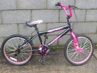 bike black pink bmx 20''
