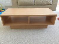 Oak effect TV stand / coffee table