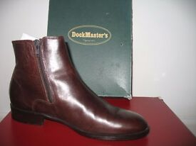Ankle Boots - DockMaster's Smooth brown leather uppers & rubber sole. Size 38.5