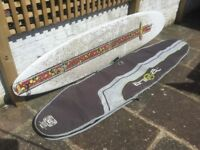 BIC 9 ft Surfboard and Animal Boardbag £150