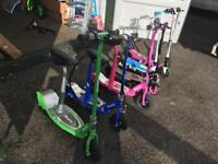 a bulk listing 6 in total of Electric Razor and Zinc Electric Scooters .