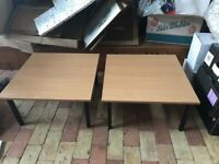 Two low Coffee Table with Metal Legs, Can Split