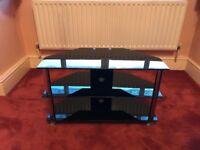 TV/Sky box 3 shelf black table