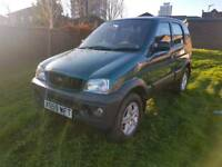 2001 DAIHATSU TERIOS 1.3, 4X4 IDEAL FOR THE BAD WEATHER!!! ONLY 40,000 GENUINE MILES,