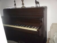Bentley upright piano with double stool