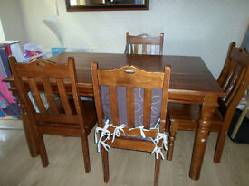 4 x All wood chairs