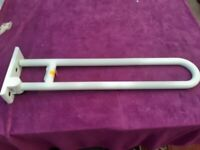 NEW Hinged safety rail, for use in toilet, disabled access