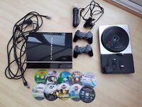 Playstation 3 80gb bundle + PS Move & DJ Hero