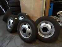 FORD TRANSIT PICK UP WHEELS AND TYRES 185 75 16s/195 75 16s £40 each £150 for a set opn 7 dys 5pm